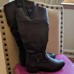 Rampage Women's Ivelia Knee High Riding Boots Wide